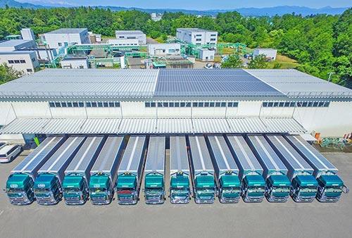 村正運輸 八幡原営業所とトラック